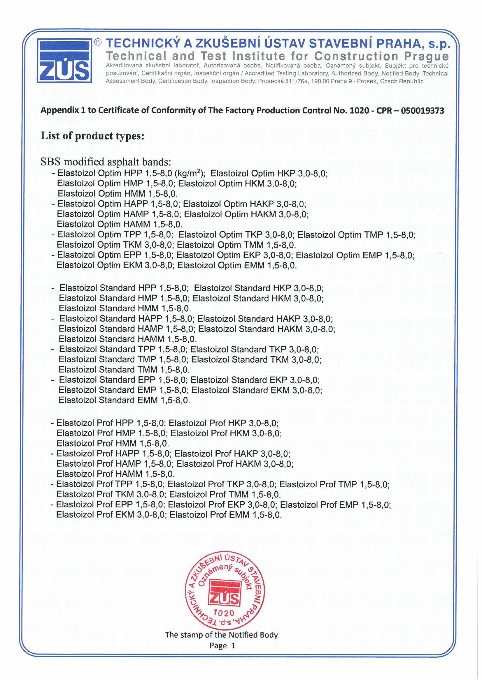 CE for elastoizol page 2